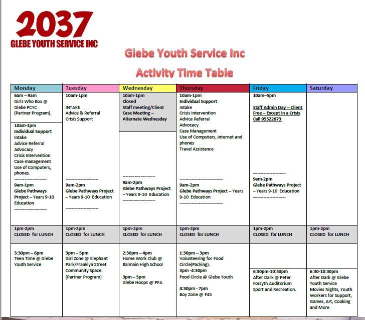 term 1 timetable 2018
